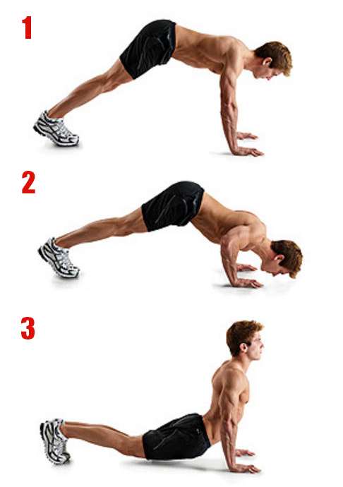 Upwod n 22 the chiseled chest triceps workout lean - Dive bomber push up ...